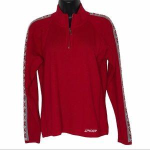SPYDER 1/2 zip wool blend ski sweater   M